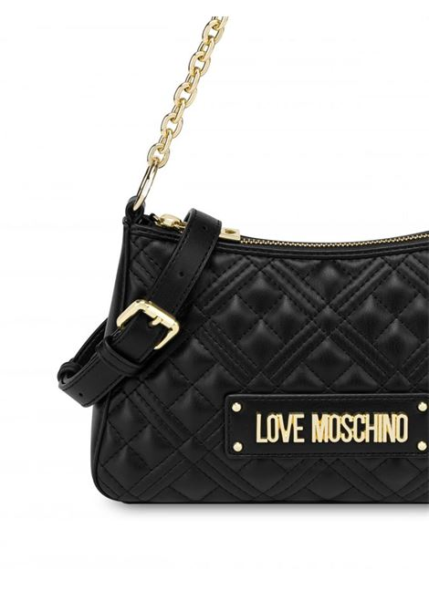 HOBO BAG SHINY QUILTED LOVE MOSCHINO | Borsa | JC4135PP1DLA0000NERO