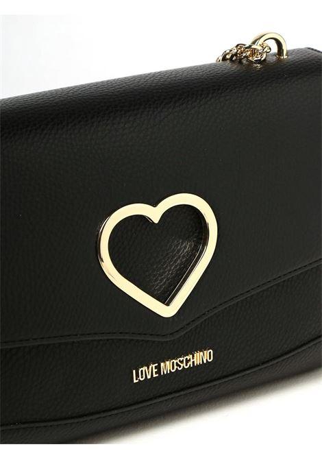 BORSA CON LOGO METALLICO LOVE MOSCHINO   Borsa   JC4318PP0DKP100ANERO