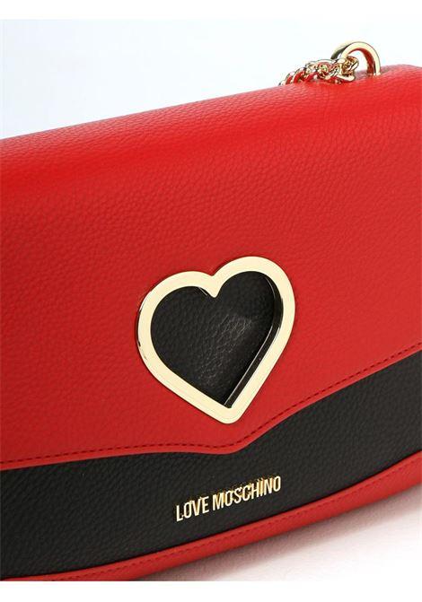 BORSA CON CUORE METALLICO LOVE MOSCHINO   Borsa   JC4318PP0DKP150A