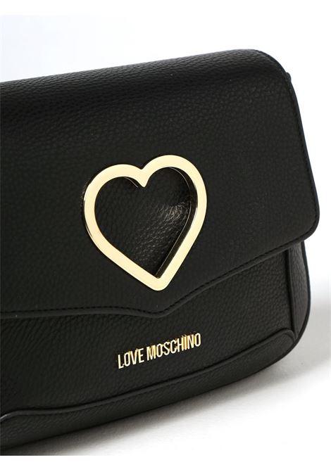 BORSA CON CUORE METALLICO LOVE MOSCHINO   Borsa   JC4320PP0DKP100ANERO