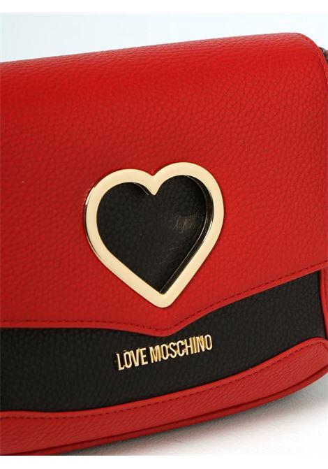 BORSA CON CUORE METALLICO LOVE MOSCHINO   Borsa   JC4320PP0DKP150A