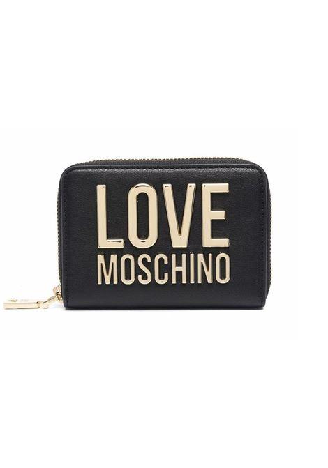 PORTAFOGLIO CON ZIP LOVE MOSCHINO | Portafoglio | JC5613PP1DLJ000ANERO