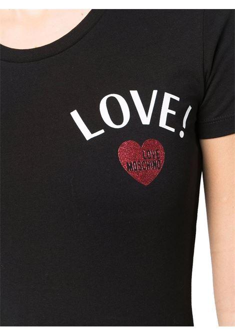 T-SHIRT CON STAMPA LOVE MOSCHINO | T-shirt | W4H1912E1951C74BLACK