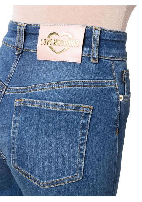 JEANS A VITA ALTA CROP LOVE MOSCHINO | Jeans | WQ46300S3582931WBLUDENIM