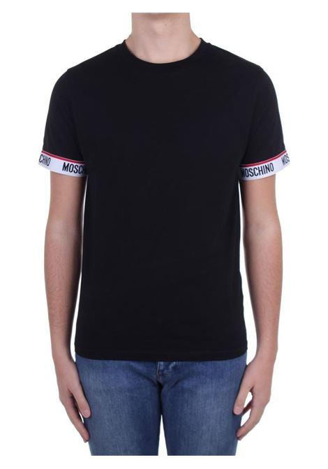 T-SHIRT CON LOGO MOSCHINO | T-shirt | 192981250555NERO