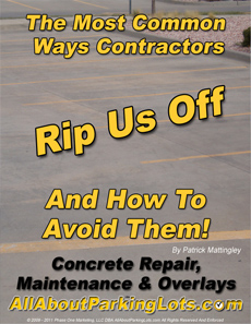 concrete sealing, repair and overlay scams eBook cover