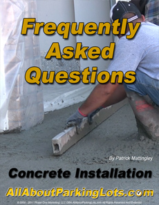 concrete installation frequently asked questions