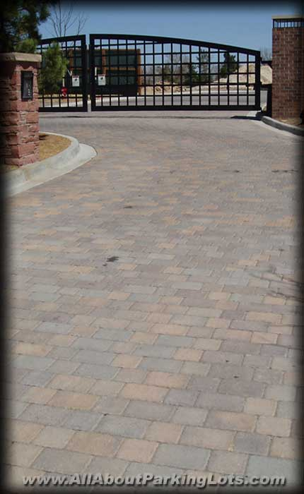 a new permeable paver parking lot