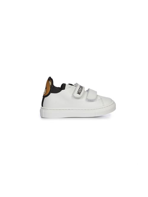 Sneakers bianca patch teddy Moschino   12   6874601
