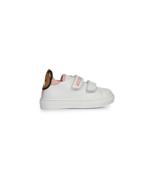 Sneakers bianca e rosa patch teddy Moschino | 12 | 6874603