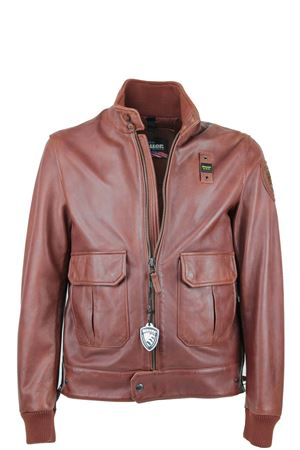 Man leather bomber jacket BLAUER | 18 | BLUL0203900496354