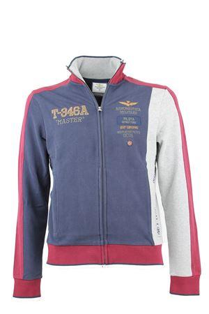 Felpa cardigan zip scritte ricamate Aeronautica Militare | 435618598 | FE1132F31390391