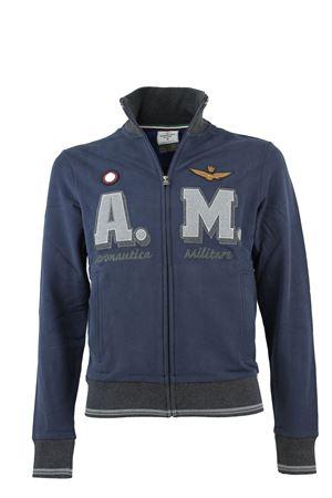 Felpa cardigan zip con scritte Aeronautica Militare | 435618598 | FE1188F31308184