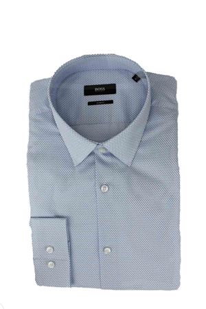 Camicia manica lunga cotone micro fantasia HUGO BOSS | -880150793 | ISKO0883450