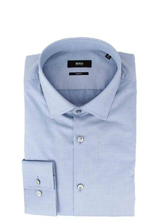 Camicia cotone microfantasia manica lunga HUGO BOSS | -880150793 | JENNO0477450