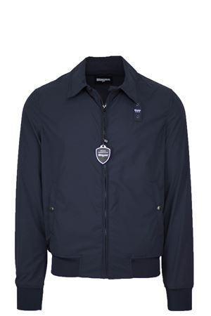 Lightweight jacket with shirt collar, CONNOR BLAUER | 925341562 | BLUC04068004888894