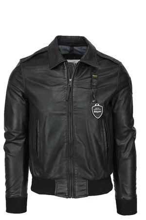 ANDREW leather bomber jacket BLAUER | 18 | BLUL02197004953999