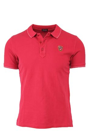 PIQUE POLO SHIRT WITH STRIPED RIBBING BLAUER | 34 | BLUT02036004865552