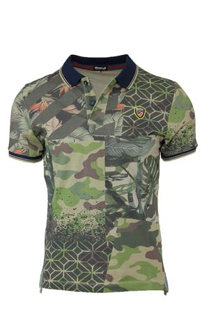 Short sleeved piquet camouflage polo shirt BLAUER | 34 | BLUT02080004874659