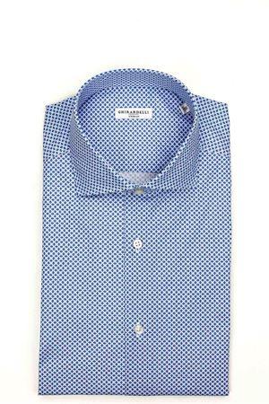 Camicia manica lunga cotone stretch microfantasia GHIRARDELLI | -880150793 | 69B878I631101