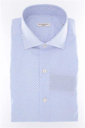 Camicia manica lunga cotone microfantasia GHIRARDELLI | -880150793 | 69B878I631202