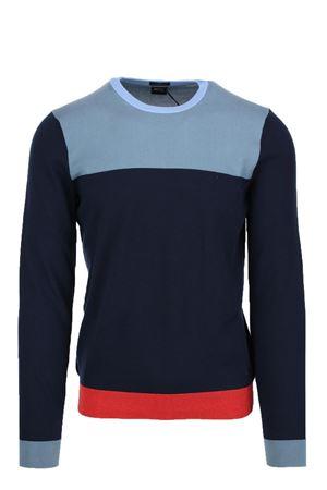 Pullover girocollo multicolor cotone HUGO BOSS | 435618598 | DECIO6771066