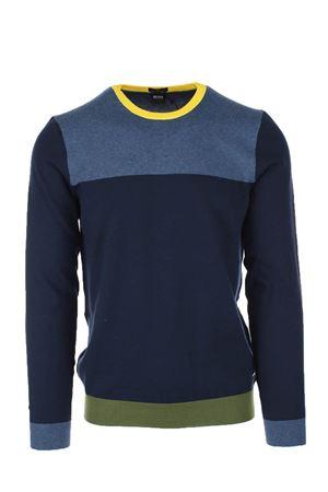 Pullover girocollo multicolor cotone HUGO BOSS | 435618598 | DECIO6771410