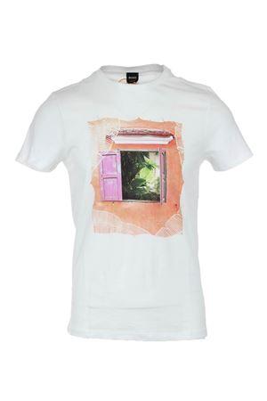 T shirt mezza manica con stampa HUGO BOSS | 34 | TAUNO61643100