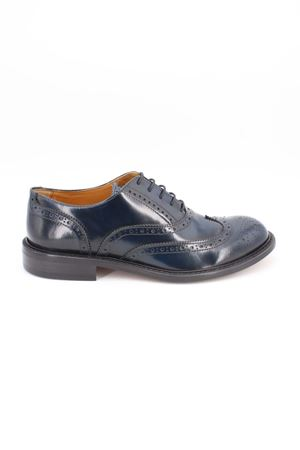 Scarpe oxford Brogue in vitello spazzolato. Marc Edelson | -1668035723 | 4525ABRASIVATOBLU