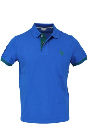 Polo mezza manica piquet fluo bordi in contrasto US Polo Assn | 34 | 4376541029137