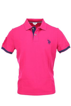 Polo mezza manica piquet fluo bordi in contrasto US Polo Assn | 34 | 4376541029250