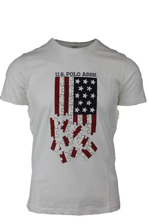T-shirt mezza manica stampa bandiera USA US Polo Assn | 34 | 4380449351101