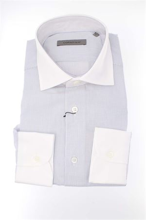 Camicia manica lunga contrasti CORNELIANI | -880150793 | P10911255007