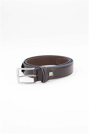 Cintura in pelle con bordi in contrasto Edoardo Cincotti | -1561109086 | R276TJ