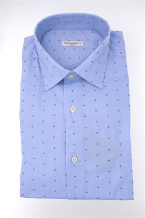 Camicia manica lunga cotone microfantasia GHIRARDELLI | -880150793 | P69B508N131402