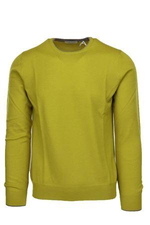 Pullover girocollo lana merinos con toppe Gran Sasso | 435618598 | 5518714270321