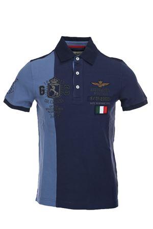 Polo mezza manica bicolore Aeronautica Militare | 34 | PO134590708