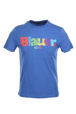 T-shirt mezza manica stampa multicolor BLAUER | 34 | BLUH02152004547876