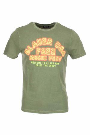 T-shirt mezza manica fluo BLAUER | 435618598 | BLUH02317005321644