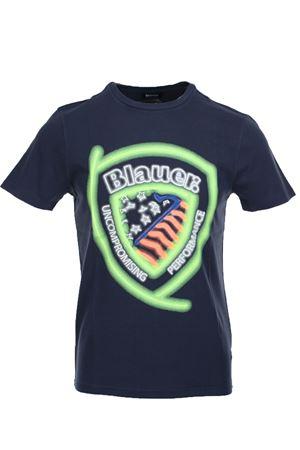 Blauer print half sleeve fluo t-shirt BLAUER | 34 | BLUH02321005321883