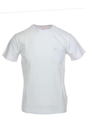 Tshirt mezza manica con taschino SUN68 | 34 | T1910101