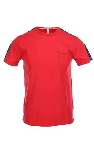 Tshirt mezza manica con banda logata SUN68 | 34 | T1910410
