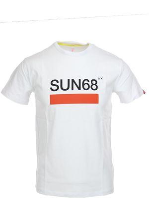 Tshirt mezza manica stampa logo SUN68 SUN68 | 34 | T191050103