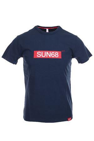 Tshirt uomo mezza manica in cotone jersey. SUN68 | 34 | T191050710