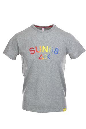 Tshirt uomo mezza manica in cotone jersey. SUN68 | 34 | T191053410