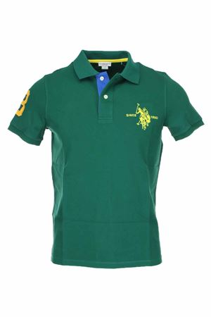 Polo mezza manica numero 3 piquet stretch US Polo Assn | 34 | 5126750336148