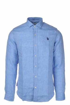 Camicia in lino fiammato manica lunga US Polo Assn | -880150793 | 5147750816233