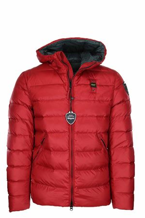MILLS DOWN JACKET WITH ATTACHED HOOD BLAUER | 925341562 | BLUC03035005046562