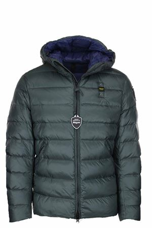 MILLS DOWN JACKET WITH ATTACHED HOOD BLAUER | 925341562 | BLUC03035005046667