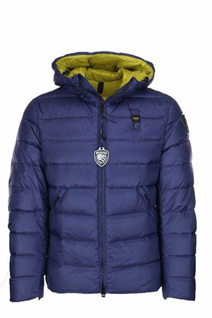 MILLS DOWN JACKET WITH ATTACHED HOOD BLAUER | 925341562 | BLUC03035005046891